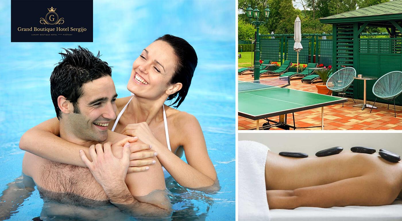 Jesenný kúpeľný oddych v Grand Boutique Hoteli Sergijo**** Piešťany s polpenziou a luxusnými wellness procedúrami