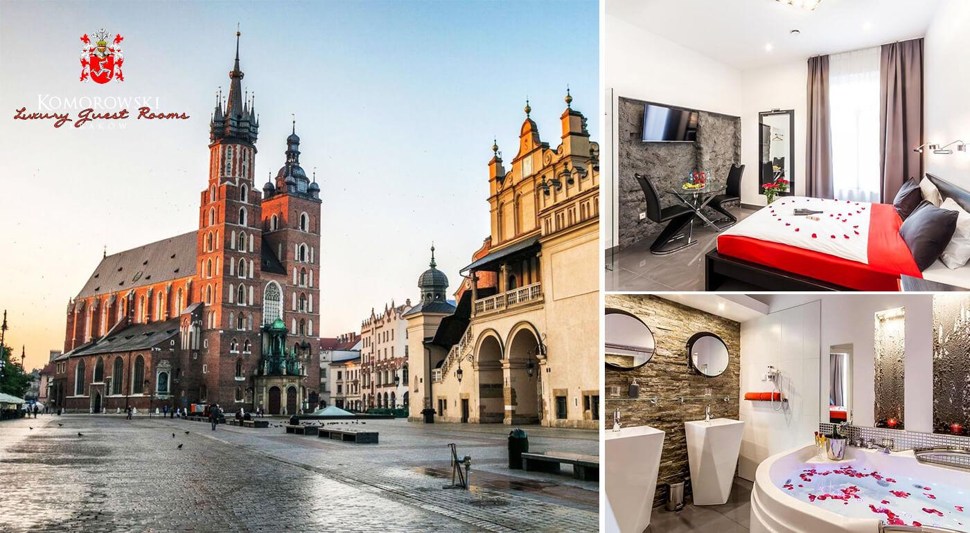 Krakov, Poľsko: Pobyt v luxusnom penzióne Komorowski Luxury Guest Rooms v centre mesta s raňajkami a romantickým balíčkom