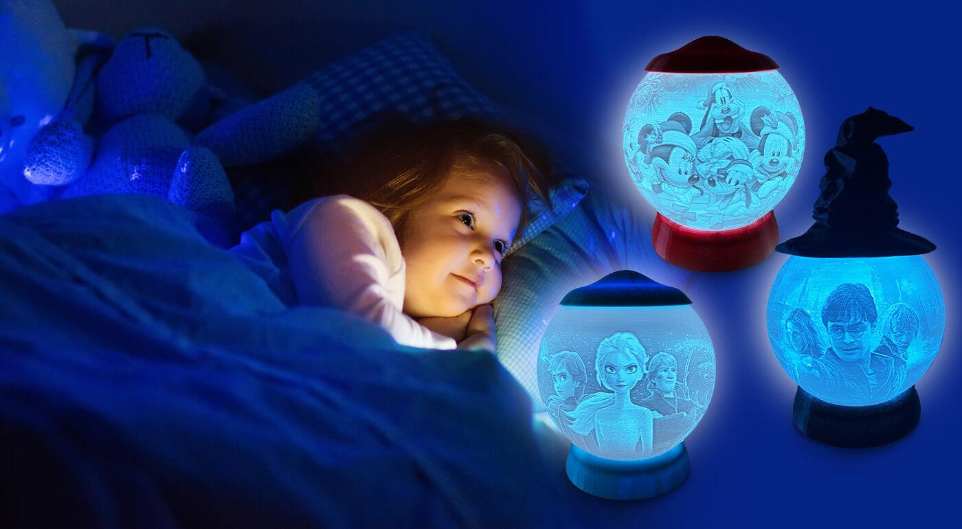 Rozprávková 3D lampa pre ešte sladšie zaspávanie