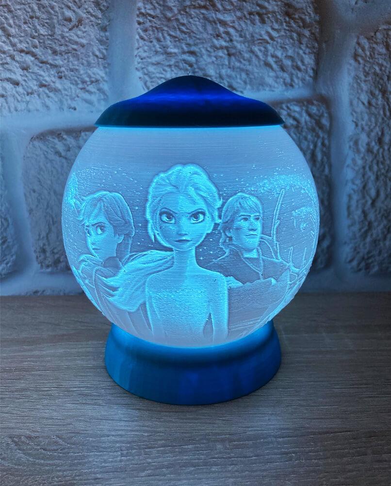 Rozprávková 3D lampa - Frozen