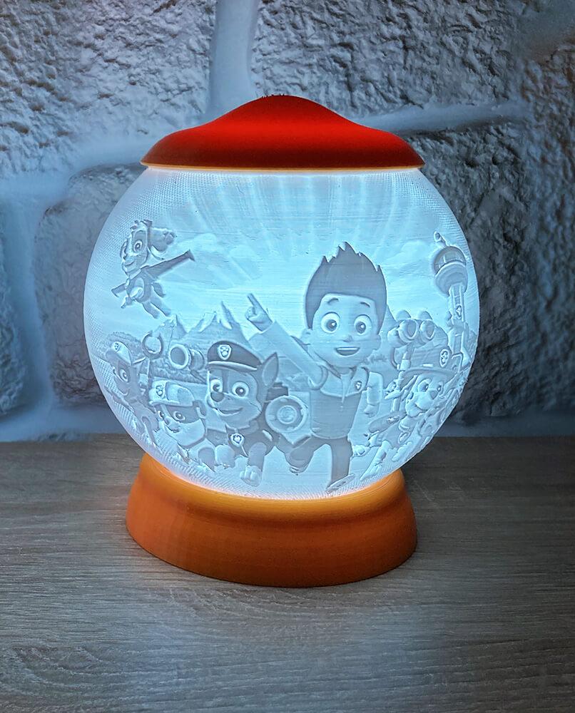 Rozprávková 3D lampa - Paw Patrol