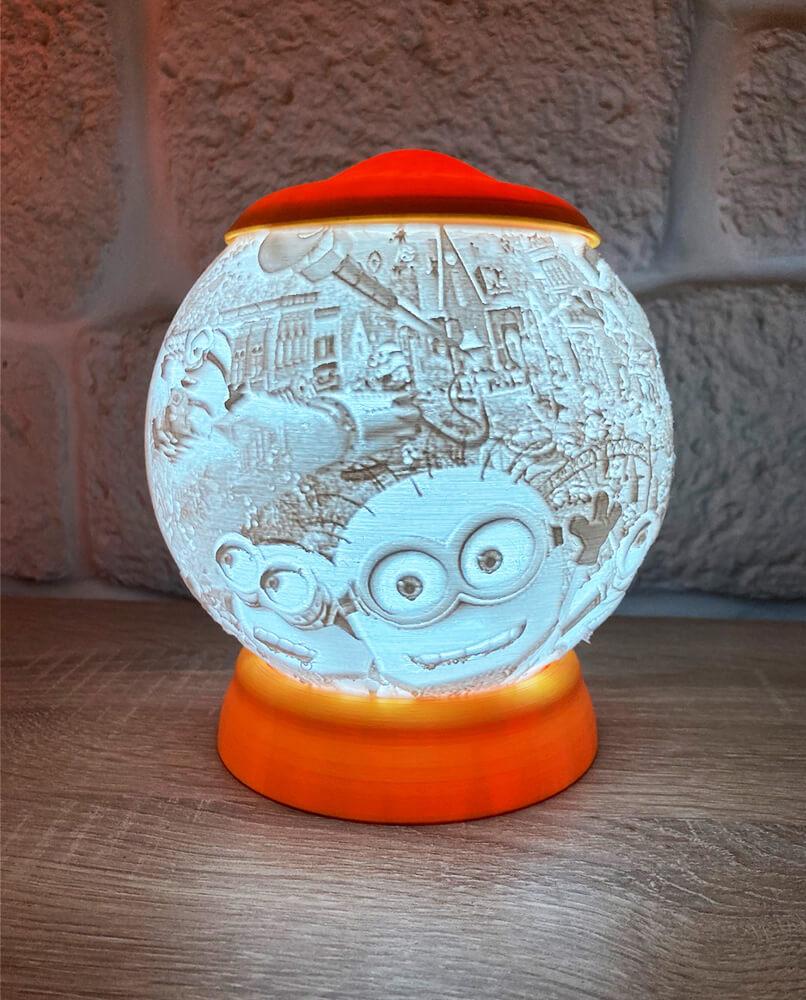Rozprávková 3D lampa - Mimoni