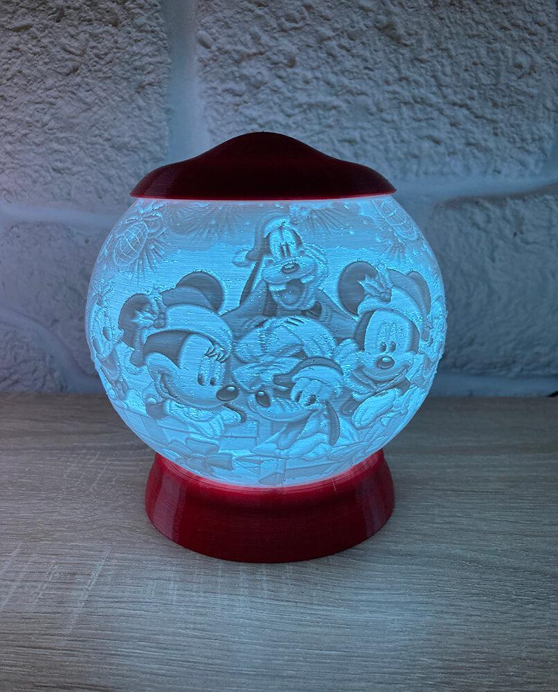 Rozprávková 3D lampa - Mickey Mouse