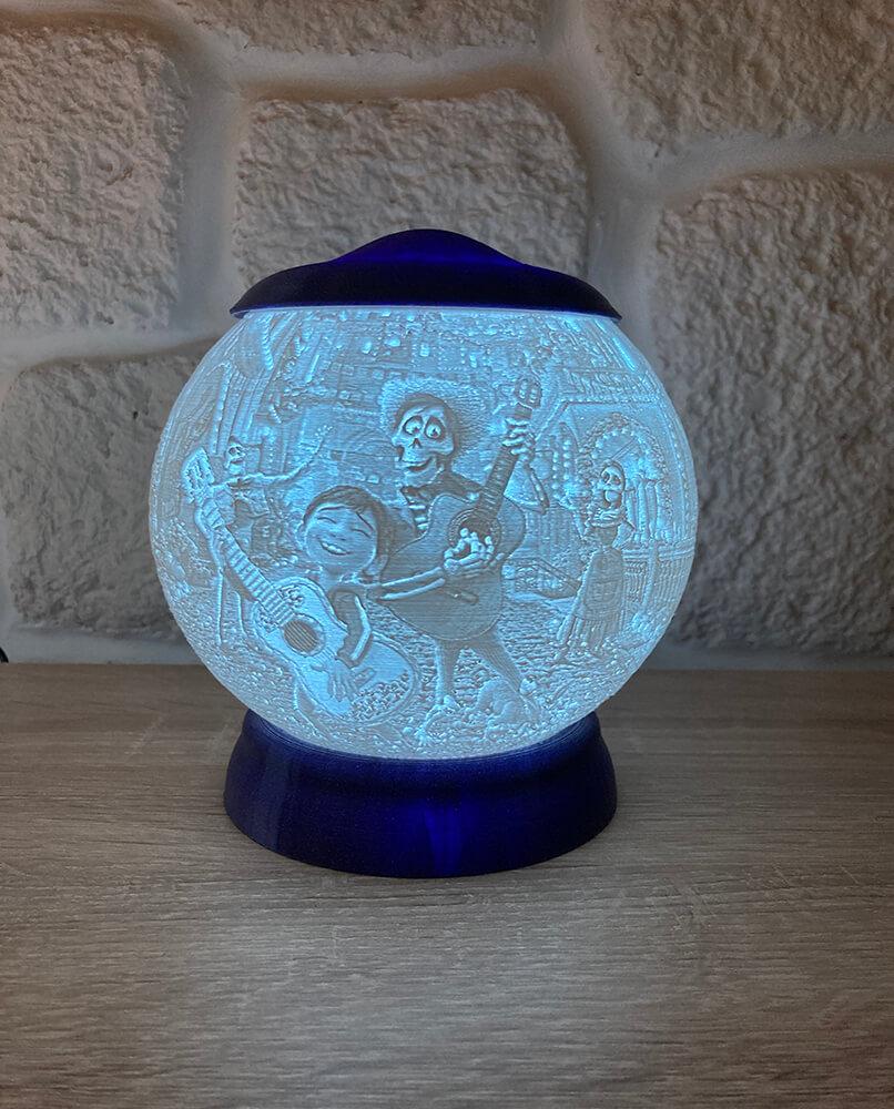 Rozprávková 3D lampa - Coco