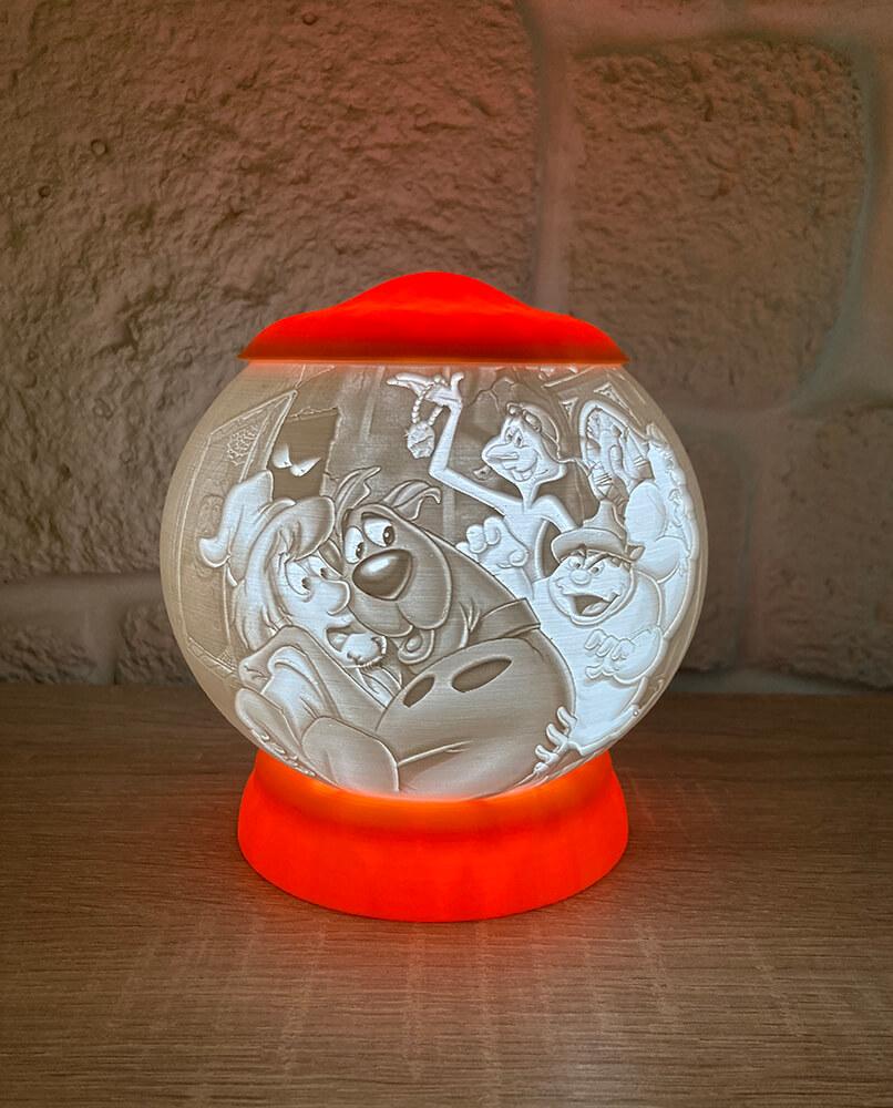 Rozprávková 3D lampa - Scooby do