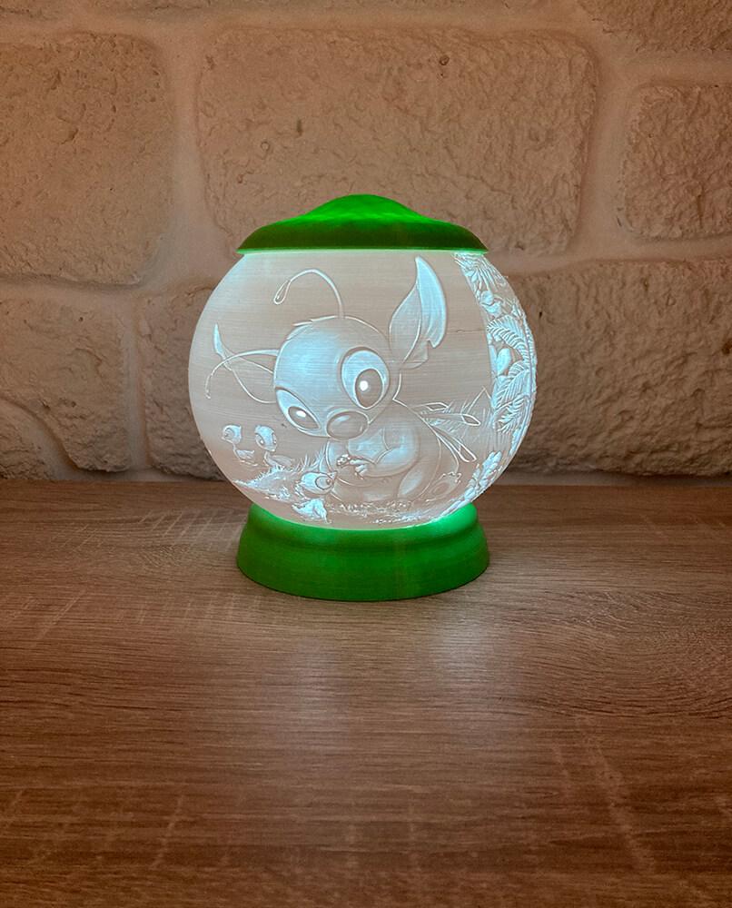 Rozprávková 3D lampa - Stitch