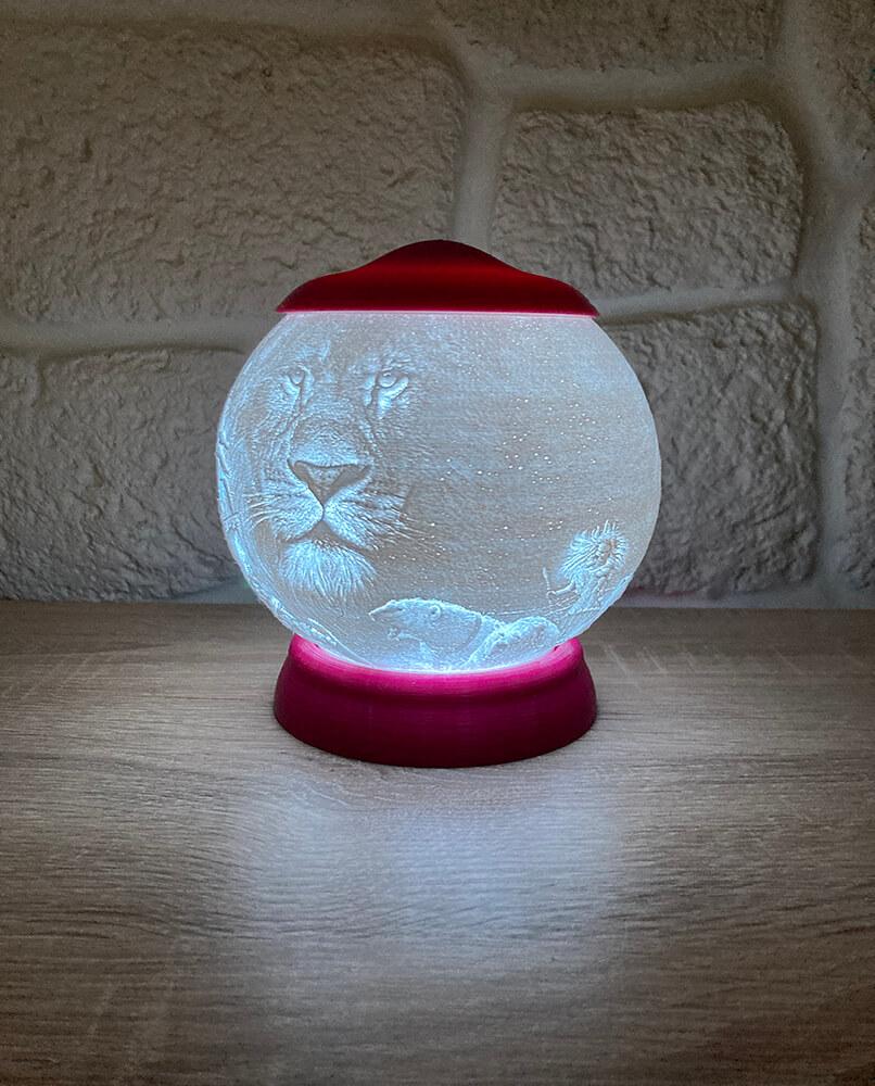 Rozprávková 3D lampa - Narnia