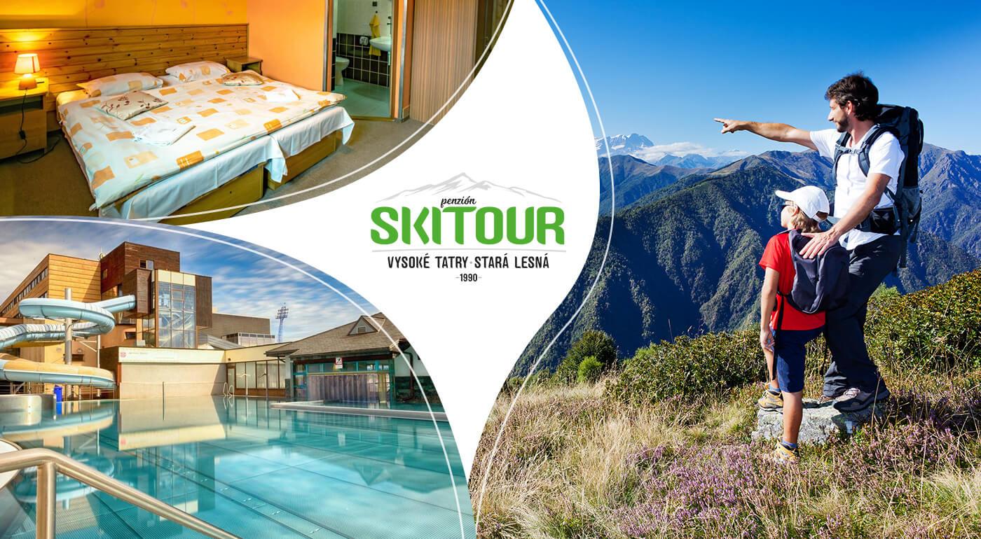 Vysoké Tatry: Letná dovolenka v Penzióne Skitour aj so vstupom do Aquacity Poprad