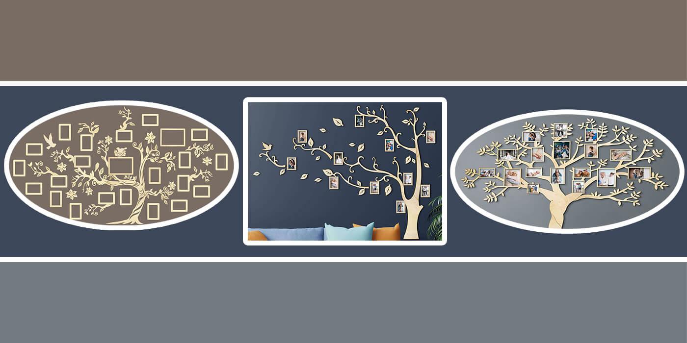 Drevené Rodostromy - originálne dekorácie do domu či bytu vyrobené na Slovensku