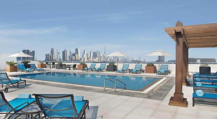 Dubaj z Budapešti-4*Hilton Garden Inn Dubai Al Min