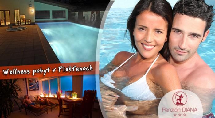 3-dňový pobyt s polpenziou a wellness v kúpeľnom meste Piešťany. Platnosť do konca augusta 2013.