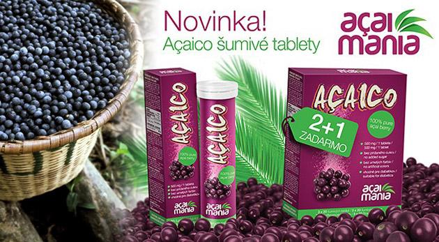 Amazónska novinka - antioxidačná bomba Açaico. Výživový doplnok pre všetkých.