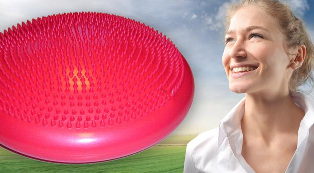 Masážny a balančný disk pre zdravú chrbticu bez bolestí.