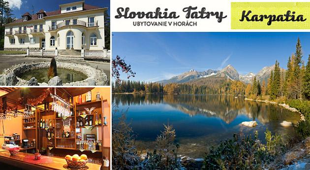 Zažite nezabudnuteľný pobyt vo Vysokých Tatrách v Penzióne Karpatia. Platnosť až do októbra 2013.