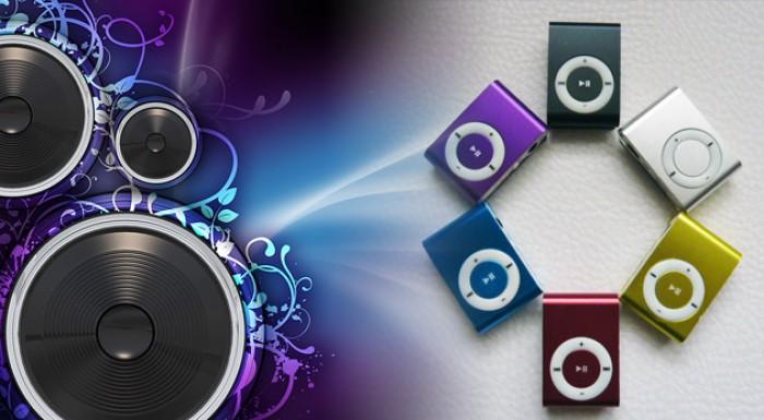 Mini MP3 prehrávač v 6 rôznych farebných prevedeniach.
