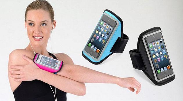 Puzdro na mobil alebo mp3 s pútkom na pripevnenie. Praktická pomôcka nielen pri športovaní.