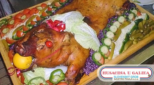 Vynikajúce pečené prasiatko pre 20 alebo až 45 osôb. Jedlo, ktorému neodoláte. Možnosť take away.