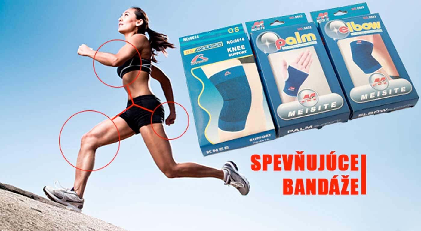 Spevňujúce bandáže - 6 dielny set, ktorý ochráni vaše zápästia, lakte a kolená.