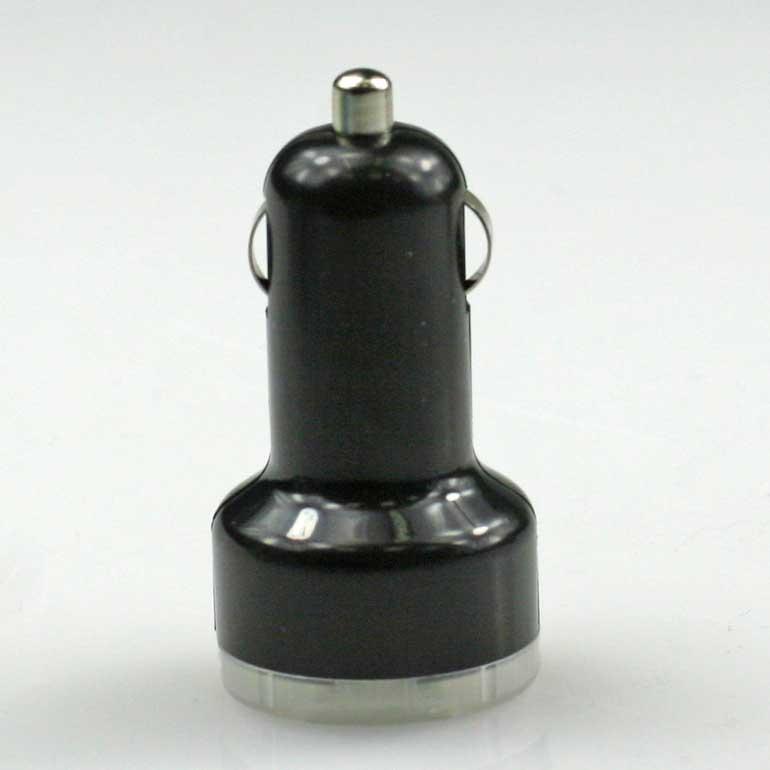 USB auto nabíjačka čierna