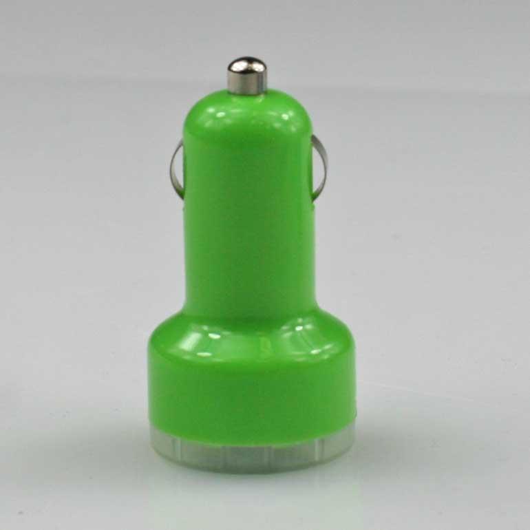 USB auto nabíjačka zelená