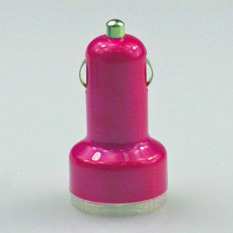 USB auto nabíjačka ružová