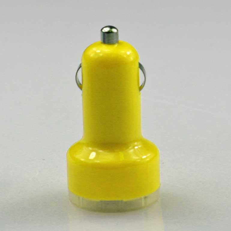 USB auto nabíjačka žltá