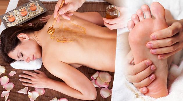 Fotka zľavy: Zrelaxujte pod rukami maséra! 40 minútová masáž podľa výberu len za 6,50€. Klasická alebo medová masáž chrbta či reflexná masáž chodidiel - jedinečný relax s blahodarnými účinkami. Zľava 65%.
