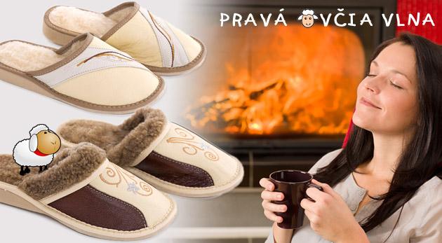 Dámske hrejivé papuče z pravej ovčej vlny. V ponuke aj ďalšie 4 nové vzory!
