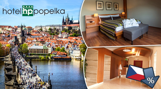 Komfortný 3 dňový pobyt v luxusnom Hoteli Popelka**** v blízkosti centra Prahy s raňajkami a fľaškou vínka na izbe.