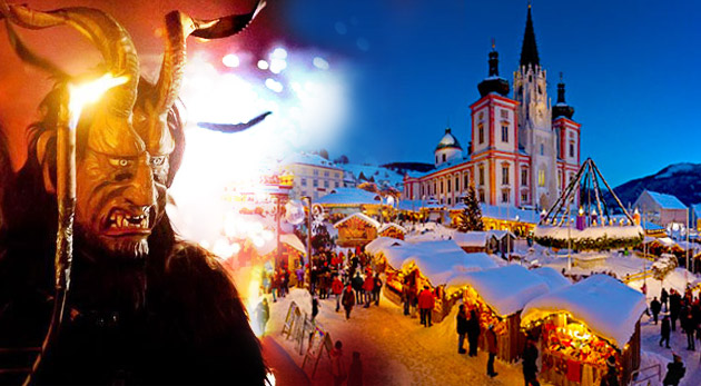 Adventný Mariazell - mariazellské perníčky, medovinka, najväčší adventný veniec Rakúska, strašidelný beh čertov...