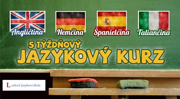 5 týždňový jazykový kurz - klasický, konverzačný alebo obchodná angličtina.