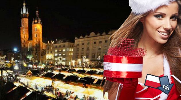 Prehliadka najkrajších miest Krakowa vo vianočnom šate spojená s návštevou adventných trhov. Nástupné miesta Ba, TT, PN, TN
