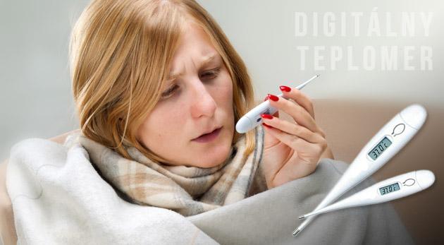 Digitálny teplomer v plastovom ochrannom púzdre - povinná výbava každej domácej lekárničky.