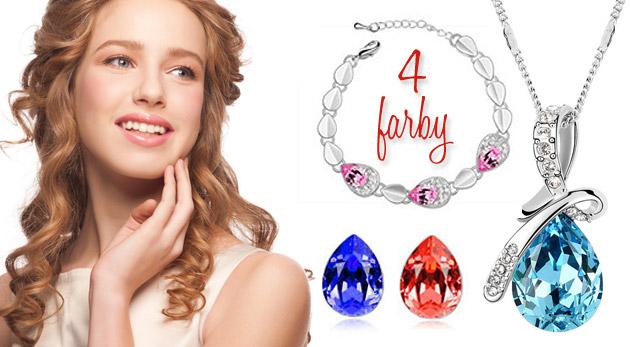 Oslnivý set šperkov s kryštálmi Swarovski Elements v štyroch žiarivých farbách v darčekovom balení.