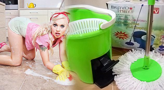 Fotka zľavy: Magic Mop 360º - čistá domácnosť s praktickým pomocníkom len  za 11,49€.  Aj vianočné upratovanie môže byť jednoduché, rýchle a zábavné!