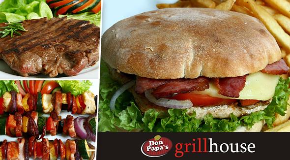 Grilovaný burger + nápoj len za 1,99€. Navštívte Don Papa's GRILLHOUSE v Trenčíne či Banskej Bystrici a vyberte si zo širokej ponuky burgerov podľa vašej chuti.