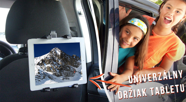 Nastaviteľný držiak na tablet do auta s uchytením na opierku hlavy - príjemnejšia cesta autom pre sediacich vzadu