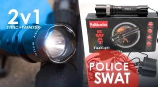 Zľava 67%: Dobíjacia baterka POLICE so zoomom alebo s paralyzérom už od 12,99 €. Praktický pomocníci prinášajúci svetlo všade tam, kde ho práve potrebujete. Osobný odber alebo zaslanie poštou.