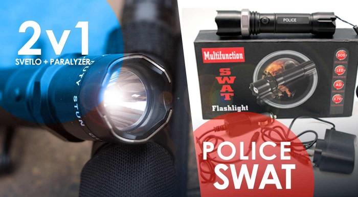Fotka zľavy: Dobíjacia baterka POLICE so zoomom alebo s paralyzérom už od 12,99 €. Praktický pomocníci prinášajúci svetlo všade tam, kde ho práve potrebujete. Osobný odber alebo zaslanie poštou.