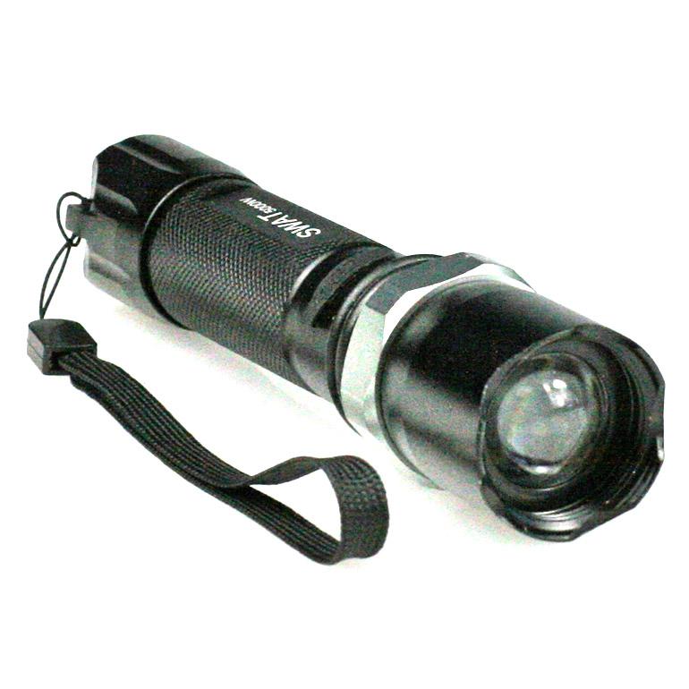Dobíjacia baterka Police so ZOOM-om (starší model - 500 lumenov)