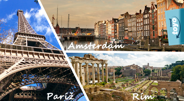 Darujte nezabudnuteľné zážitky - darujte zájazdy snov do Paríža, Ríma alebo Amsterdamu.