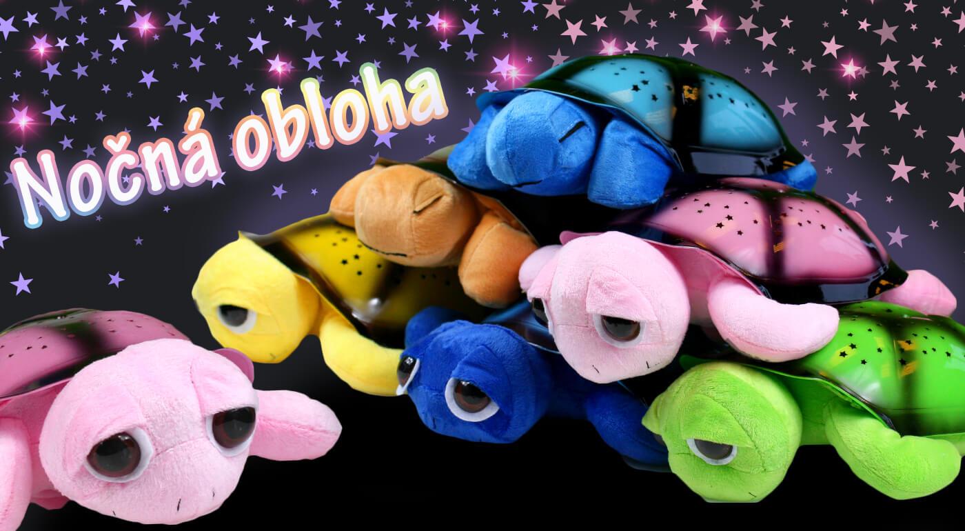 Roztomilá hrajúca i svietiaca korytnačka: rozprávkovo pokojný spánok všetkým drobcom