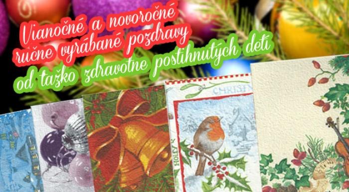 Vianočné a novoročné ručne vyrábané pozdravy