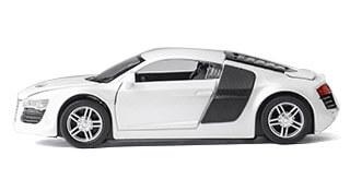 RC auto na diaľkové ovládanie AUDI R8 biele