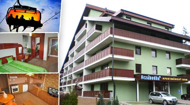 Fotka zľavy: Pobyt s nadštandartným ubytovaním v apartmánoch rezortu Nezábudka pre 1 osobu na 3 dni s výberom spôsobu stravovania už od 30€ a s možnosťou all inclusive a wellnes v Clubhoteli Nezábudka.