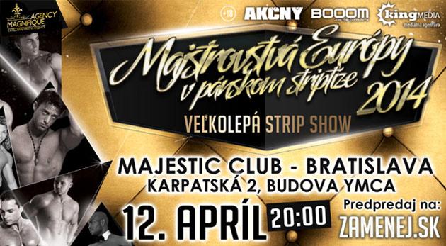 Fotka zľavy: Historicky najviac striptérov na jednom mieste! Veľkolepá striptízová show už od 16€ v podaní špičkových striptérov z celej Európy na vás čaká v Košiciach, Žiline a v Bratislave! Apríl vás rozpáli!