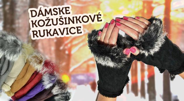 Štýlové dámske kožušinkové rukavice bez prstov až v 7 farebných odtieňoch!