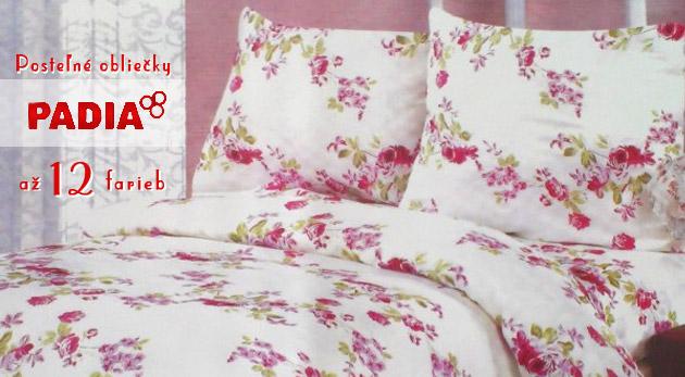 Vzdušné posteľné obliečky La fleur z bavlny v 12 farebných variáciach s prírodným motívom.