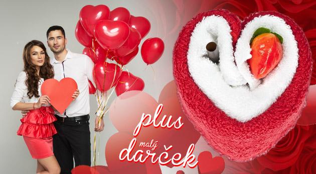 Originálne uteráčiky v tvare srdca + darček, magnetický prívesok na kľúče s motívom srdca zdarma!