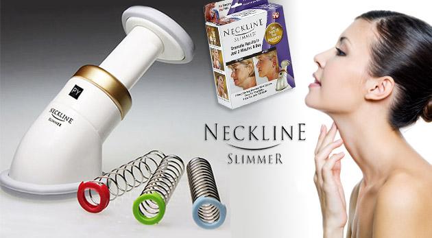 Revolučný prístroj Neckline Slimmer na odstránenie dvojitej brady a získanie mladistvých kontúr tváre a krku.